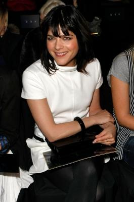 Selma Blair smiles at the Tommy Hilfiger show at New York Fashion Week Fall 2009 -- Getty Images