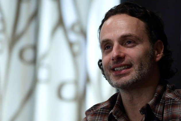 SINGAPORE - JANUARY 13: English actor and Walking Dead star, Andrew Lincoln attends the press conference at Fairmont Hotel on January 13, 2014 in Singapore. (Photo by Suhaimi Abdullah/Getty Images)