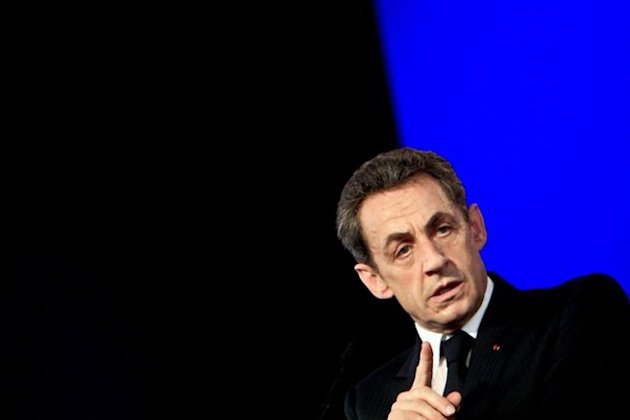 Cernay (Haut-Rhin), le 25 avril 2012. Meeting de Nicolas SARKOZY avec intervention de François FILLON.