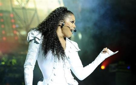 "U.S. singer Janet Jackson performs on stage during her ""Number Ones - Up Close and Personal"" tour at the Royal Albert Hall in London June 30, 2011. REUTERS/Dylan Martinez"