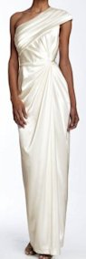 Nordstrom ivory one-shoulder gown, $178.00.