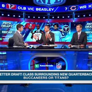 Who has the best draft class surrounding their new QB?