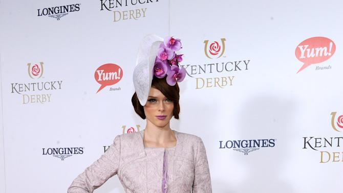 IMAGE DISTRIBUTED FOR LONGINES - Model Coco Rocha walks the Kentucky Derby Red Carpet, Saturday, May 4, 2013, in Louisville, KY. Longines, the Swiss watchmaker known for its famous timepieces, is the Official Watch and Timekeeper of the 139th annual Kentucky Derby.  (Photo by Diane Bondareff/Invision for Longines/AP Images)