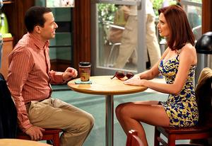 Jon Cryer and April Bowlby | Photo Credits: Robert Voets/Warner Bros. Television Entertainment
