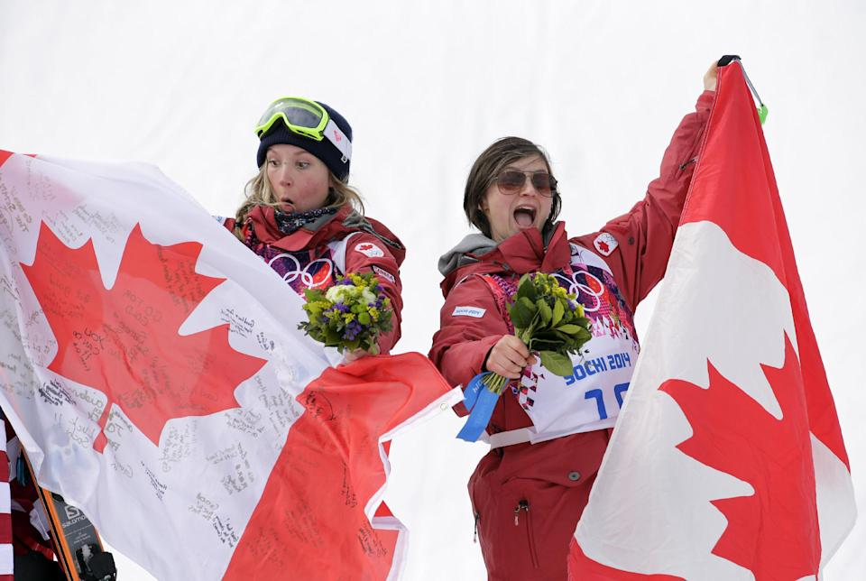 Dara Howell and Kim Lamarre honour Sarah Burke's legacy with Olympic gold and bronze