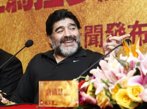 <p>Argentine soccer great Diego Maradona (seen in Beijing on August 13) attended a Beijing court hearing Friday which was considering his $3.2 million image rights claim against two Chinese Internet companies, state media said. Maradona accuses the companies of using his name and picture for an online gaming site without asking his permission, news agency Xinhua said.</p>