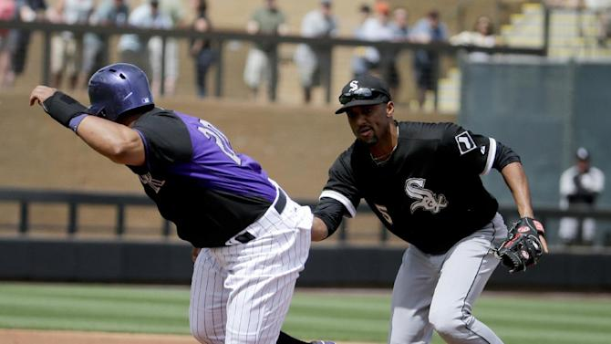 Quintana faces minimum; White Sox tie Rockies 5-5