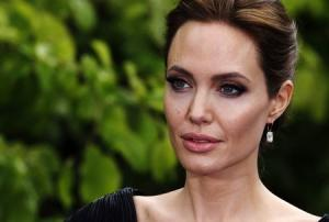 Actress Angelina Jolie arrives for a special Maleficent Costume Display at Kensington Palace in London