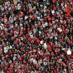 Thousands Of LA Teachers Demand Higher Wages And Smaller Class Sizes