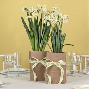 Brown Paper Bag Floral Centerpieces