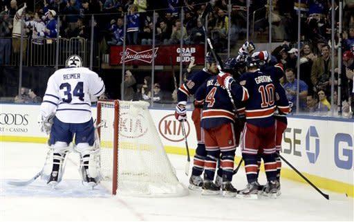 Gaborik rallies Rangers past Maple Leafs 5-2