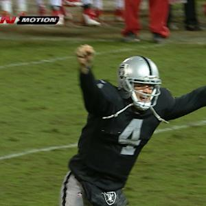 Impressions of Oakland Raiders quarterback Derek Carr after win