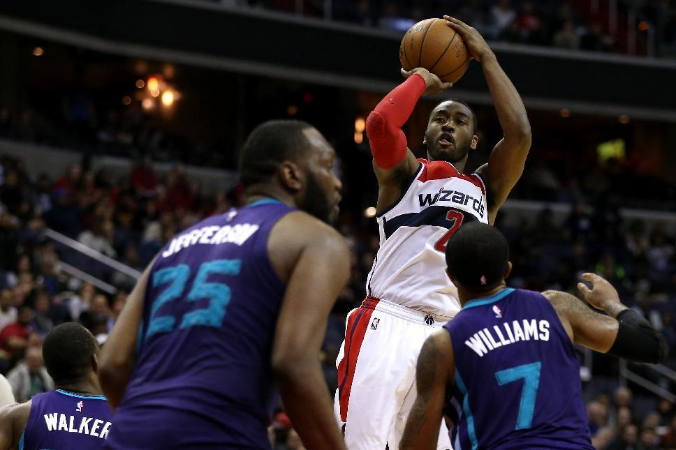 Wall leads Wizards past Hornets 110-107 in double-overtime