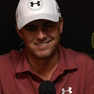 Jordan Spieth discusses what he did on vacation before the John Deere