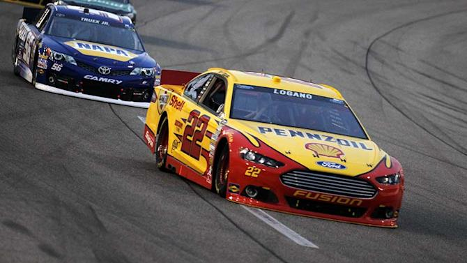 Logano speeds to third-place finish