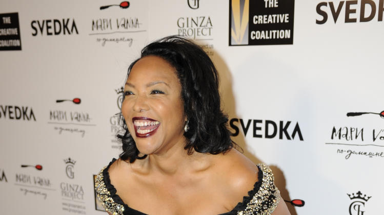 Lynn Whitfield arrives at the Creative Coalition Night Before Dinner on Sunday Jan. 20, 2013, in Washington. (Photo by Nick Wass/Invision/AP)