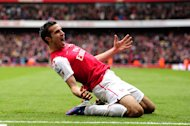 Robin van Persie hit 36 goals for Arsenal last season