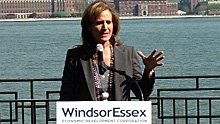 Sandra Pupatello is introduced as CEO of the Windsor Essex Economic Development Corporation.