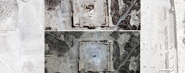 Satellite images show Syrian temple destroyed