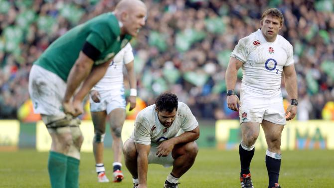 Rugby Union: England's Billy Vunipola looks dejected