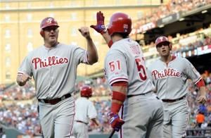 Thome, Victorino, Phils end 6-game skid, beat O's