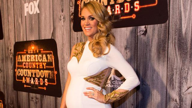 Hot Mama! Carrie Underwood Shows Off Her Baby Bump in Skin-Tight White Gown
