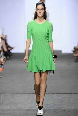 Bright swingy dress