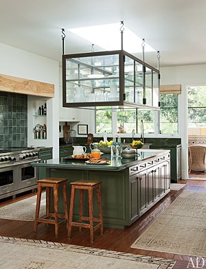 Ellen DeGeneres and Portia de Rossi's kitchen in Beverly Hills. Roger Davies/AD