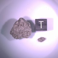 This moon rock collected by Apollo astronauts was one of those studied by geoscientist Clément Suavet and colleagues to research the moon's magnetic field.