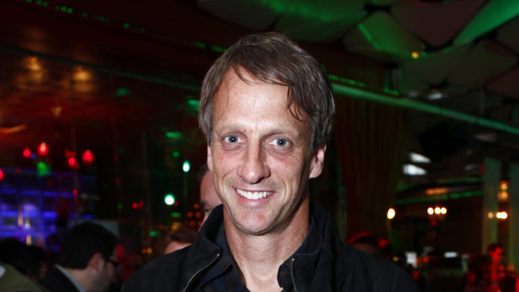 COMMERCIAL IMAGE -  In this image provided by Xbox - Tony Hawk attends the E3 Best of Xbox Showcase Monday June 4, 2012 in Los Angeles. (Photo by Joe Kohen/Invision for Xbox)