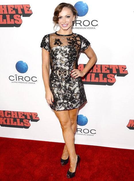 Karina Smirnoff Suffers Nip Slip at Machete Kills Premiere