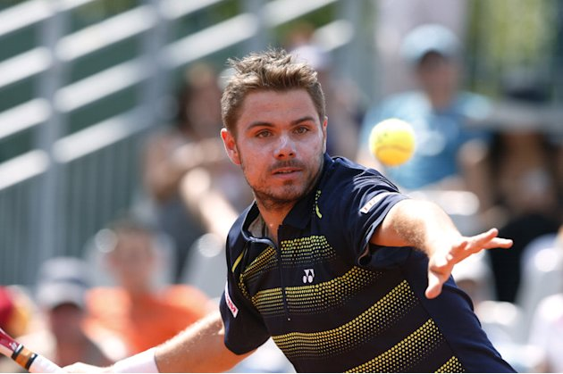 Swiss Stanislas Wawrinka Hits AFP/Getty Images