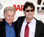 Martin Sheen and Charlie Sheen attend AARP Movies for Grownups film festival - 'The Way' premiere at Nokia Theatre L.A. Live, Los Angeles, on September 23, 2011 -- FilmMagic