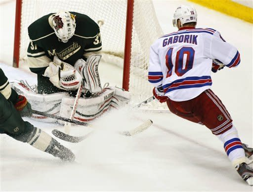 Late Fedotenko goal gives Rangers 3-2 win at Wild