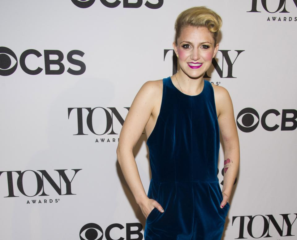 "FILE - This May 1, 2013 file photo shows Annaleigh Ashford at the 2013 Tony Awards Meet the Nominess press reception in New York. Ashford is nominated for a Tony Award for her role in ""Kinky Boots."" (Photo by Charles Sykes/Invision/AP, file)"