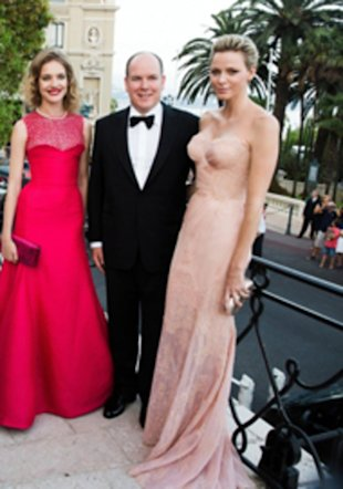 Princess Charlene of Monaco (right)