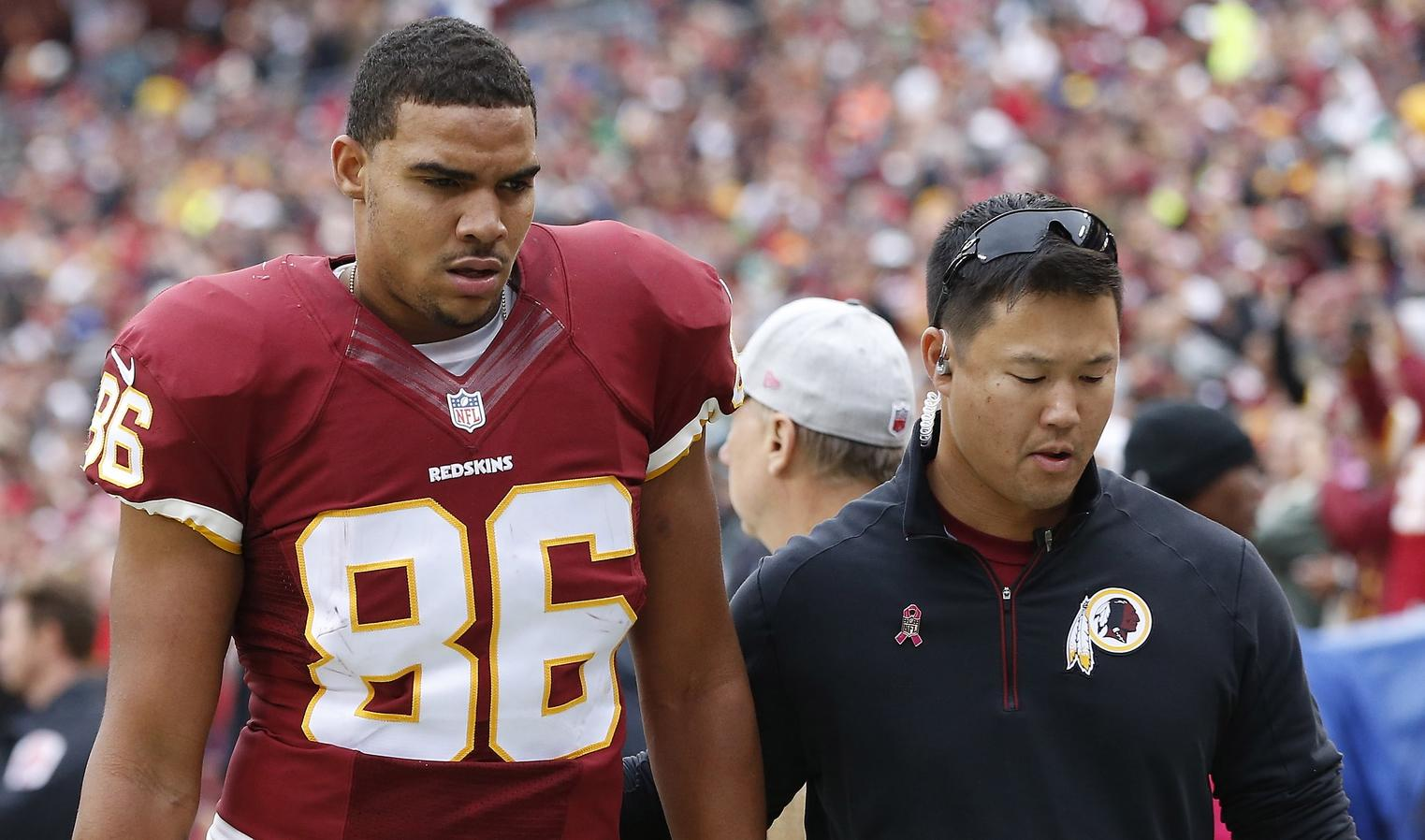 Jordan Reed diagnosed with concussion vs. Eagles
