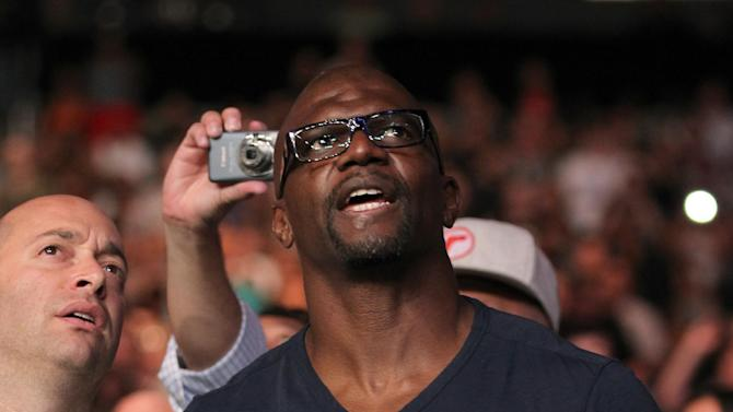 COMMERCIAL IMAGE - Actor Terry Crews attends the UFC on Fox event at Staples Center on Saturday, Aug. 4, 2012, in Los Angeles. (Photo by Matt Sayles/Invision/AP Images)
