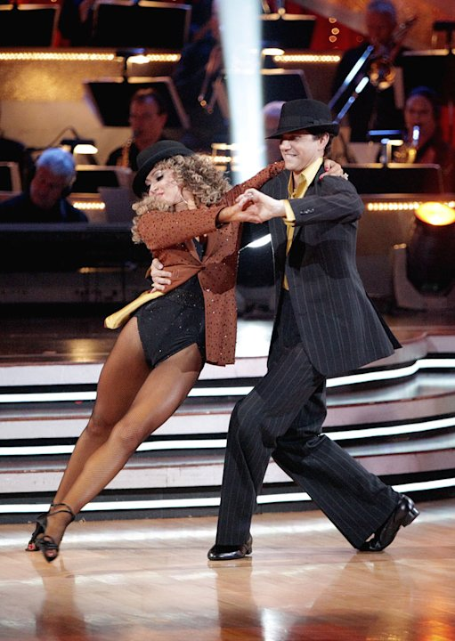 "Ralph Macchio and Karina Smirnoff perform on ""Dancing with the Stars."""