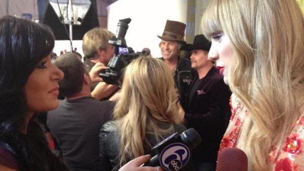 Taylor Swift speaks to Action News at CMAs