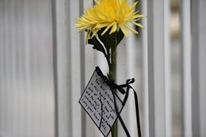 A flower with a message to Indonesian President Joko …