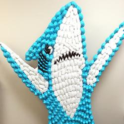 This Is A 6-Foot-Tall Replica Of Left Shark, Made Out Of Marshmallow Peeps