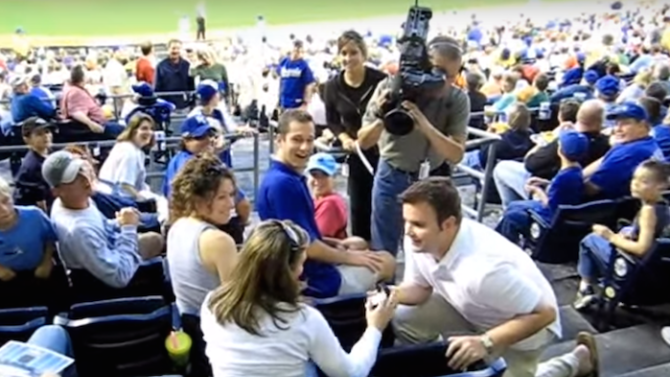 Looking to Propose at a Basketball or Baseball Game? Here's How and What It'll Cost You