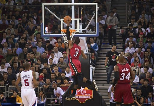 Heat top Clippers 94-80 in preseason game in China