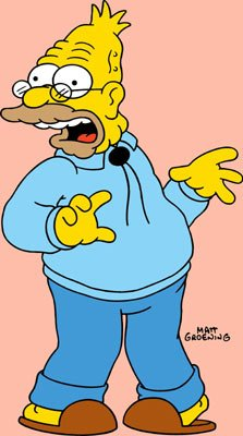 Abraham 'Grandpa' Simpson (voiced by Dan Castellaneta)