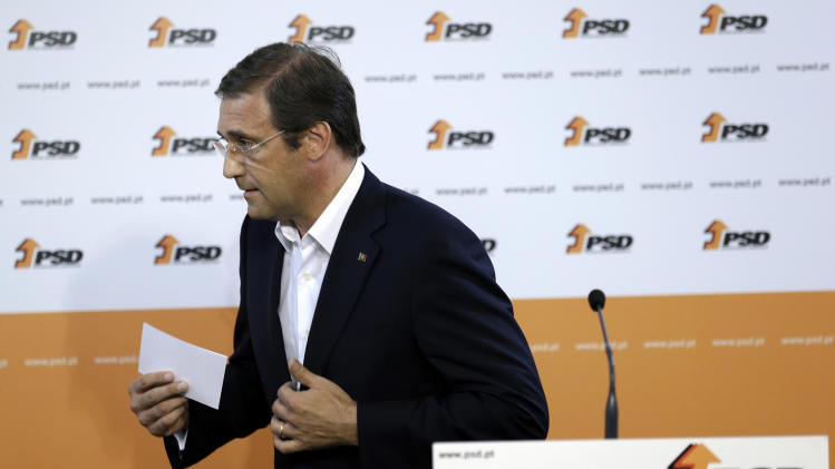 Portugal gov't punished for austerity measures