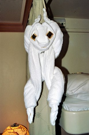 Monkey-Shaped Animal Towel