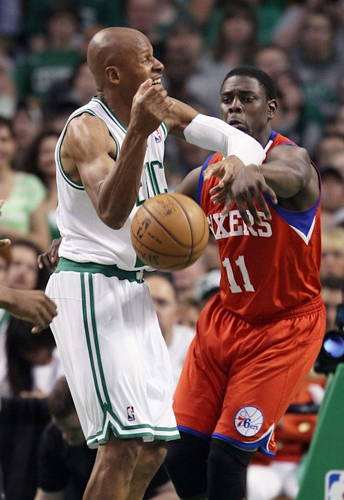 Jrue Holiday #11 Of The Philadelphia 76ers Swats Getty Images