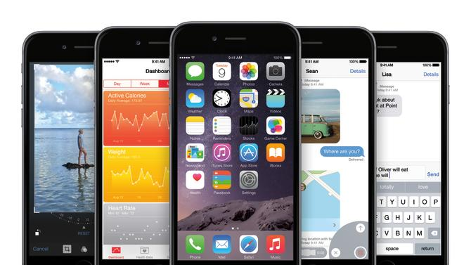 View of iPhone 6 with iOS8