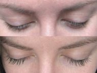 JRose-Style's lashes, before and after